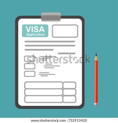 Idea Filling Out Documents Obtaining Visa Stock Vector Royalty Free