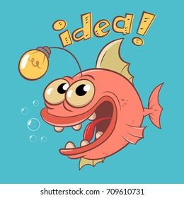 Idea Fish Vector/Cartoon Character