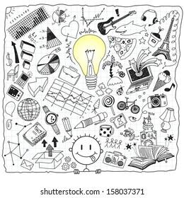 idea hand-drawn doodles