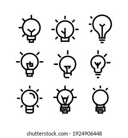 idea icon or logo isolated sign symbol vector illustration - Collection of high quality black style vector icons