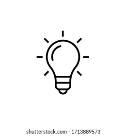 idea icon outline vector illustration. isolated on white background