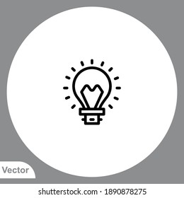 Idea icon sign vector,Symbol, logo illustration for web and mobile