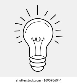 Idea Icon Vector, Light Bulb line icon vector.