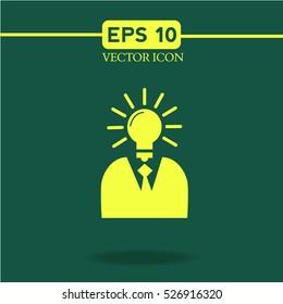 Idea icon vector.logo.bulb