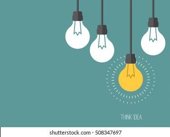idea and insight concept. lightbulbs