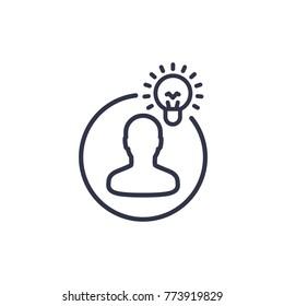 idea, insight line icon