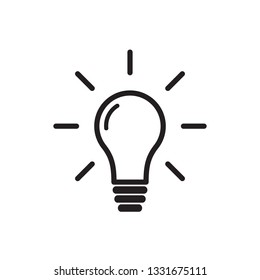 idea, lamp, light, bulb icon vector