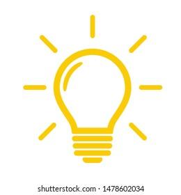 Idea Lightbulb Icon.  Light bulb vector that represents ideas and creativity in business.