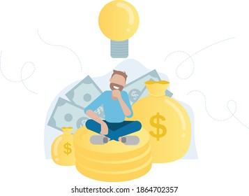 Idea of lucrative business - Entrepreneur concept