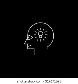 Idea maker profile icon black