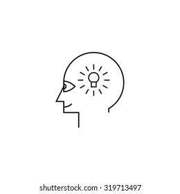 Idea maker profile icon white