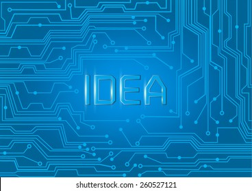 IDEA on electric integrated circuit. Technology background.