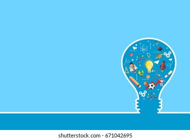 idea on light bulb.education concept.can be used for layout.vector