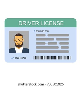 The idea of personal driving license, driving license, identity card. ID card, identification card, identity verification, person data. Modern vector illustration in a flat style.