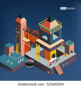Idea Smart city isometric