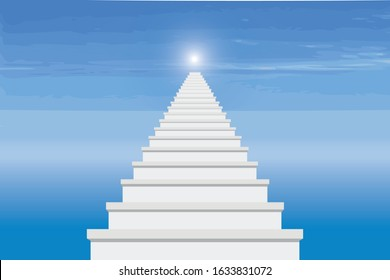the idea stairs to Heaven drawing in vector