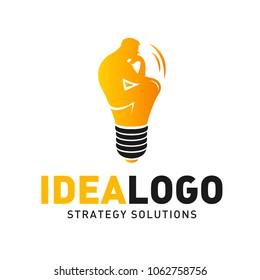 Idea thinking man logo