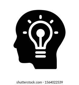 idea vector glyph flat icon