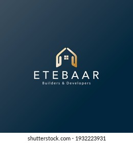 Ideal logo for construction company. Builders and developers organisation logo.