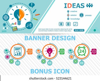 Ideas design concepts and abstract cover header background for website design. Horizontal advertising business banner layout template