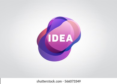 ideas Logo. Abstract purple logo. sign on a white background
