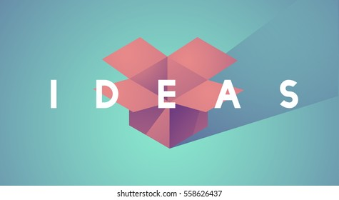 Ideas Mission Vision Vector Illustration