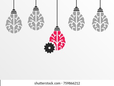 Ideation or brainstorming process concept with the help of machine learning or artificial intelligence