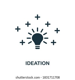 Ideation icon. Creative element sign from life skills collection. Monochrome Ideation icon for templates, infographics and more.