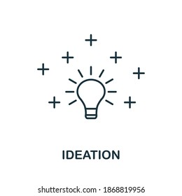 Ideation icon. Simple line element from life skills collection. Filled Ideation icon for templates, infographics and more.