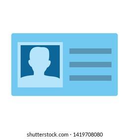 Identification Card icon. flat illustration of Identification Card vector icon for web