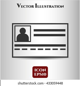 identification card icon vector symbol flat eps jpg