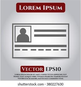 Identification Card vector icon or symbol