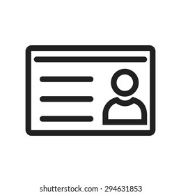 Identification, id, student card icon vector image. Can also be used for education, academics and science. Suitable for use on web apps, mobile apps, and print media.