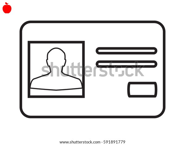 identity card, a document icon, vector illustration eps10
