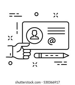 Identity Card Vector Icon