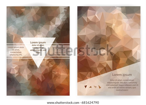 Identity Design Templates Abstract Geometric Background ...