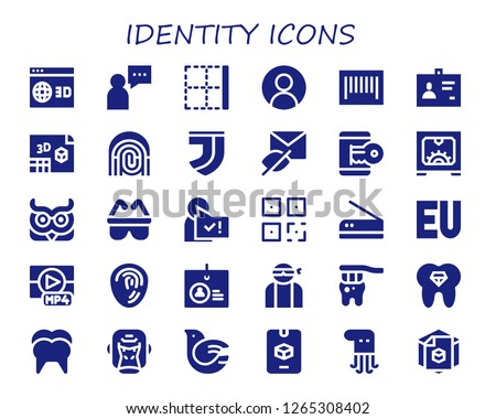 identity icon set 30