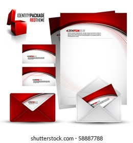 Identity Kit   Red Package   EPS10 Compatibility needed   All elements are on separate layers named accordingly