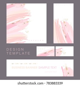 Identity style. Design template. Invitation to a company event. Cover product catalog. Business card.