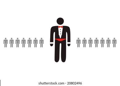ideogram of character representing premium service provider