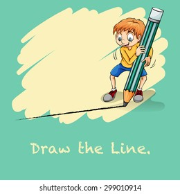 Idiom saying draw the line