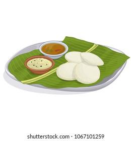 Idli sambar vector