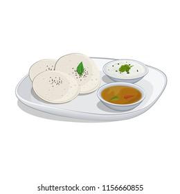 Idli Sambar vector illustration