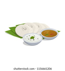 Idli Sambar vector illustration