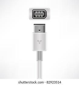 IEEE 1394 plug & socket