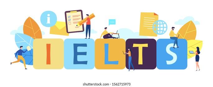 Ielts International English Language Testing System Stock Vector (Royalty  Free) 1562715973