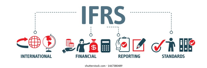 IFRS. International Financial Reporting Standards vector illustration concept with icons