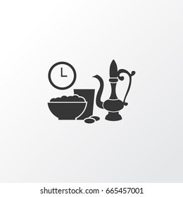 Iftar Icon Symbol. Premium Quality Isolated Meal Eaten Element In Trendy Style.