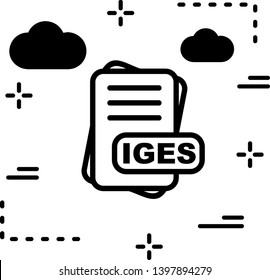 IGES File Format Icon  For Your Project