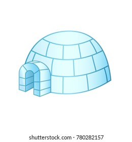 Igloo ice house in Greenland and Canada